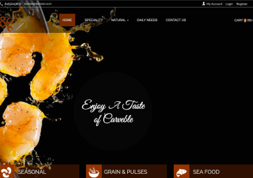 E-Commerce Website For Organic and Costal Product – For Sale (Platform – Source Code )